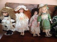 15 X porcelain Dolls