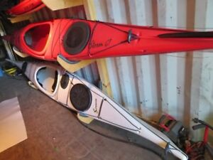 Two Current Designs sea kayaks for sale