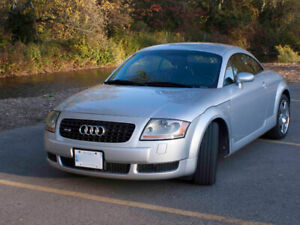 Silver 2001 Audi TT 1.8T 225 HP with Black Leather Interior