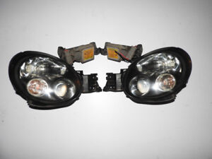 JDM 02-03 Subaru Impreza WRX STI V7 HID Black Housing Headlights