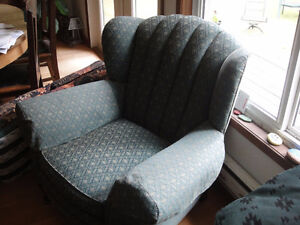 Wingback Chair, 1920s, recently re-upholstered