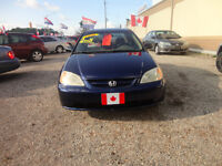 2002 Honda Civic LX Coupe (2 door) e-tested & cert