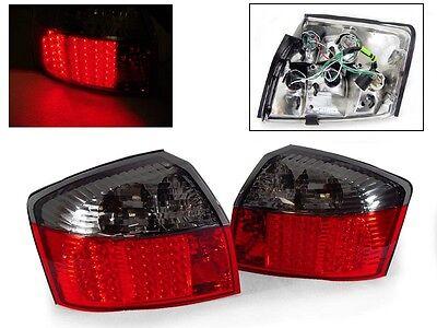 DEPO Red Smoke LED Tail Lights For 2002-2005 Audi A4 S4 B6 8E 4D Sedan Quattro