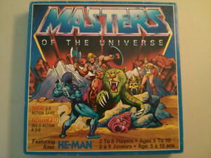 1983 Masters of the Universe 3-D action board game MOTU