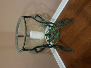 Wrought Iron Stand w/ Glass Vase