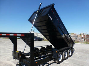 "2016 HEAVY DUTY 7 & 10 TON GOOSE NECK DUMP 76 "" X 14 AND 16 FT.."
