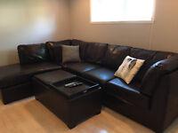 Sofa Sectionnelle en cuir