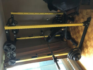 Power Rack and weights