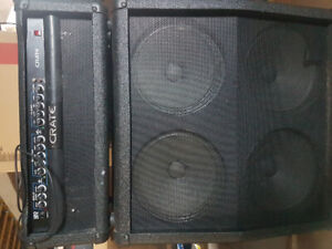 Crate 4x12 stack amp with foot pedal