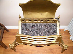 1923 SOLID BRASS FIREPLACE