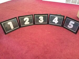 Wedding Table Numbers Windsor Region Ontario image 4