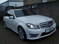 "2011 MERCEDES C220CDI AMG SPORT ESTATE 5DR AMG BODYKIT 18"" ALLOYS PANROOF SATNAV"