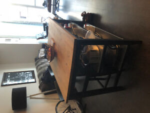 Kitchen island +bar stools for sale