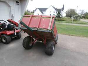 ATV/ woods trailer with ATV tires