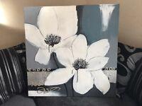 Beautiful large flower canvas