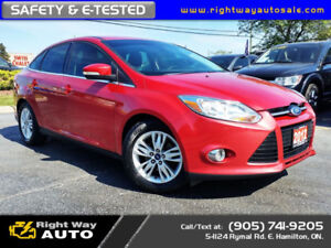 2012 Ford Focus SEL | 8 INCH SCREEN | SAFETY & E-TESTED