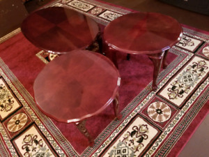 Queen Anne 3 pc coffee table set