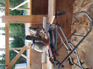 "12"" double compound miter saw Bosh with wheeled stand Chop saw"