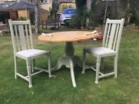 Pine Kitchen / Dining set ....Round Table and 2 matching Chairs