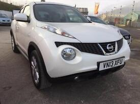 Nissan Juke 1.5dCi ( 110ps ) Acenta Premium Pearlescent white only 23,000 miles