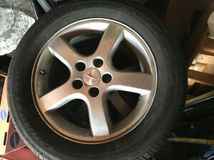 4 Goodyear tires with rims