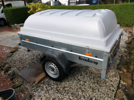 Quality Brenderup camping trailer with super strong abs lid.