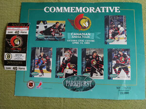 Commemorative 1993 Parkhurst Arena Tour Sheet #7 and ticket Cornwall Ontario image 8