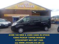 2015 15 FORD TOURNEO CUSTOM T300 LIMITED L.W.B MINIBUS 125 BHP BLACK + LEATHER 3