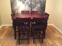 Pub Style Dining Set w/leaf and 8 chairs