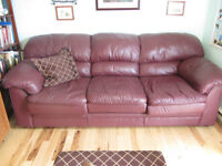 REDUCED - BEST OFFER Sofa/Couch Real Leather, Canadian Made