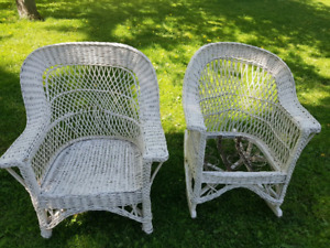 Antique Set of Wicker Chairs
