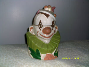 VINTAGE MCCOY CLOWN COOKIE JAR