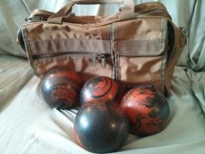 4 Bowling Balls & Bag