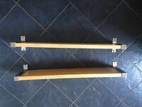 2 IKEA Jarpen birch shelves with brackets