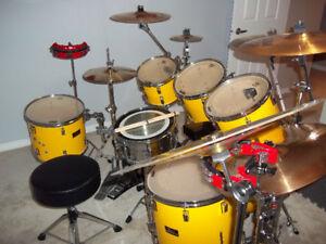 7Pc Pearl Export Drum Kit.