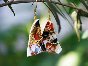 Handmade Earrings and Pendants from Recycled China