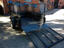 8X5 NEW HEAVY DUTY HIGH SIDE BOX TRAILER + CAGE WITH RAMP Carlton Kogarah Area Preview