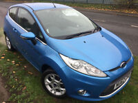 FORD FIESTA 1.25 ZETEC £35 WEEK NO DEPOSIT 21K MILES BLUETOOTH 3 DR HATCH 2012