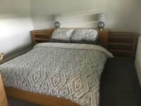 IKEA malm king size bed with headboard and mattress and extras