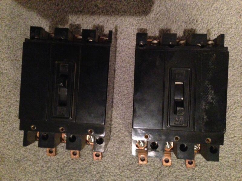 GE, E Frame, Circuit Breaker, cat no TE32070 3 Pole, 70 Amps, 240V A.C.