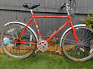 Retro steel framed mountain bike