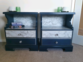 Upcycled bedroom bedside tables