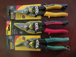 3 pc Stanley fat max tin snips set