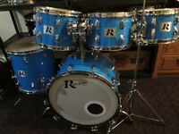 Early1975 Vintage Maple Drum Kit. Rogers Brand Drums. Rare Find.