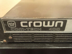 Crown Comtech 400 stereo Pro amp West Island Greater Montréal image 2