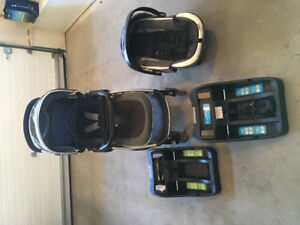 Safety 1st Stroller, Car Seat, and 2 Bases