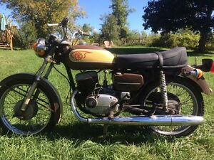 Trade, 1974 cz175 motorcycle for 9.9 outboard (sold ppu)