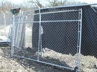 refurbished driveway/yard chain link fence gate(s)