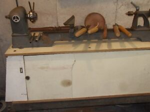 "36"" Cast Iron  wood lathe,"