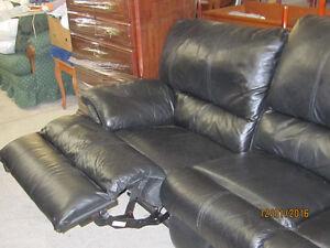 BLACK RECLINING SOFA ONLY $375.00 London Ontario image 4